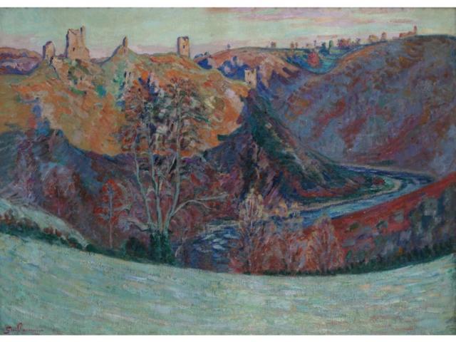 """Les ruines de Crozant"" Armand GUILLAUMIN (1841-1927)"