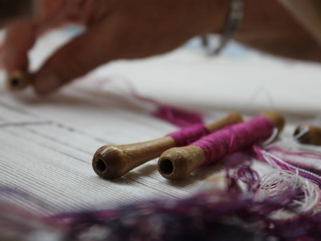 Tissage flûte de laine