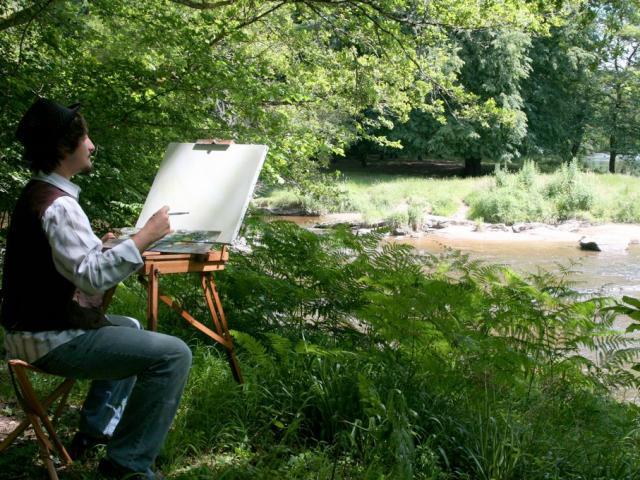 Un Peintre À L'oeuvre Près De La Creuse©poc