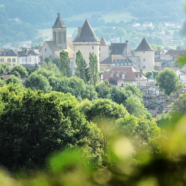 Vue générale de Bourganeuf