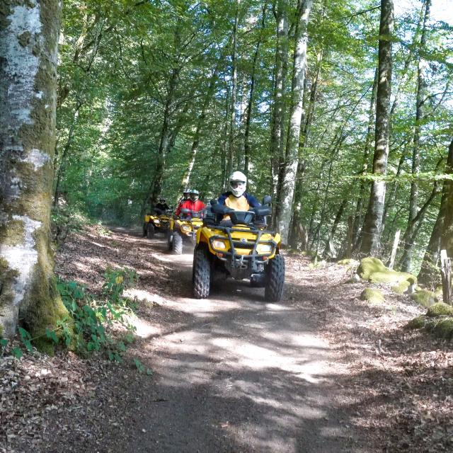 Randonnée en quad au Clos d'Arnet