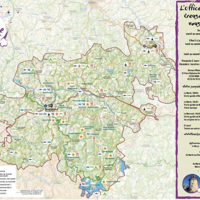 Carte Touristique Creuse Sud Ouest