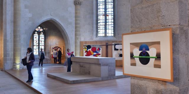 Exposition de tapisseries eglise du château Felletin